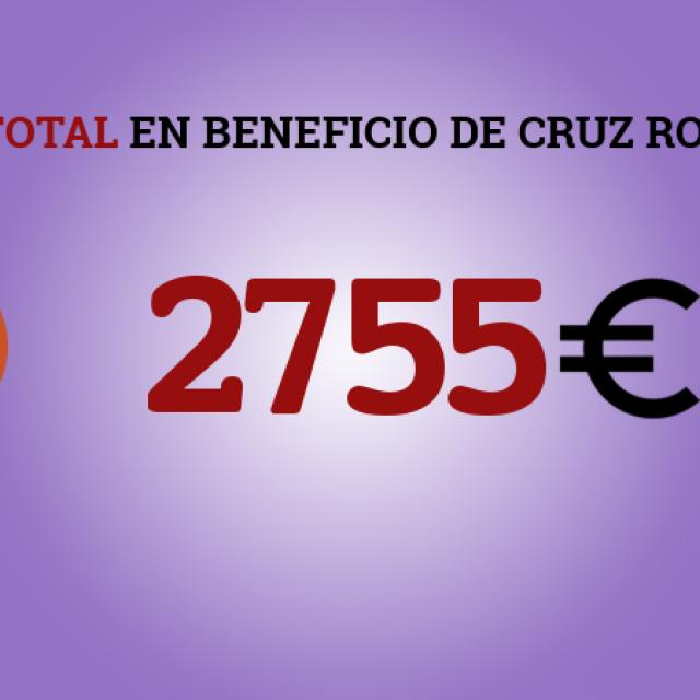 Entrega del cheque con la recaudación del Telemaratón solidario a Cruz Roja Crevillent