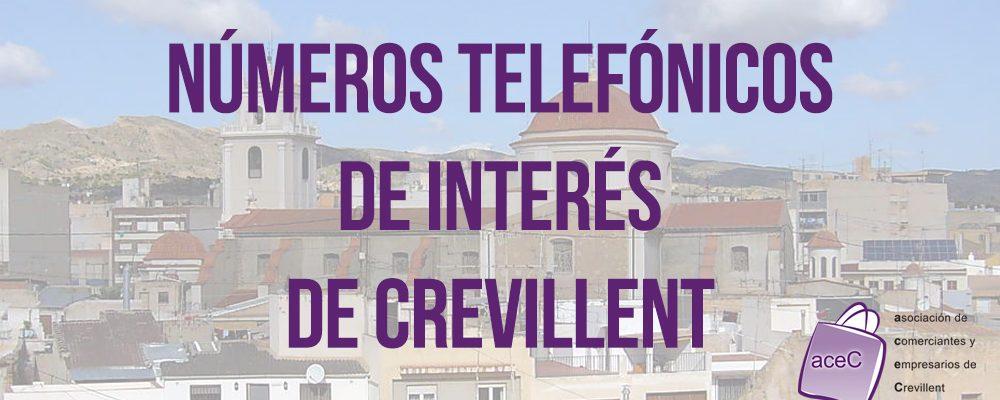 Números telefónicos de interés de Crevillent