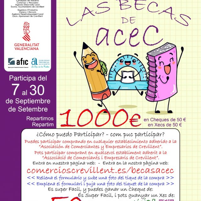 La ACEC sorteará 1000 € en becas